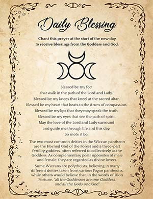 Wiccan Daily Prayer Blessing