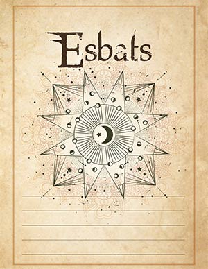 Esbats Book of Shadows Page