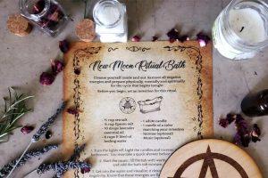 New Moon Ritual Bath Recipe & Spell