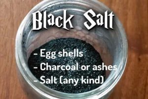 How to make black salt with egg shells