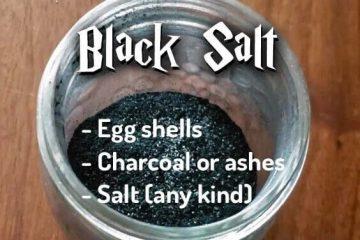 How to make black salt with egg shells