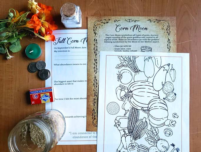 Corn Moon Wicca Magic Spell