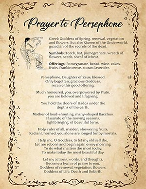 Prayer / Poem to Persephone
