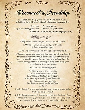 Spell to Get a Friend Back