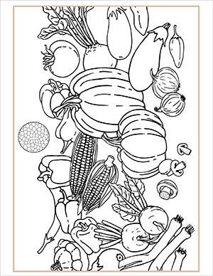 Full Corn Moon Ritual Coloring Page