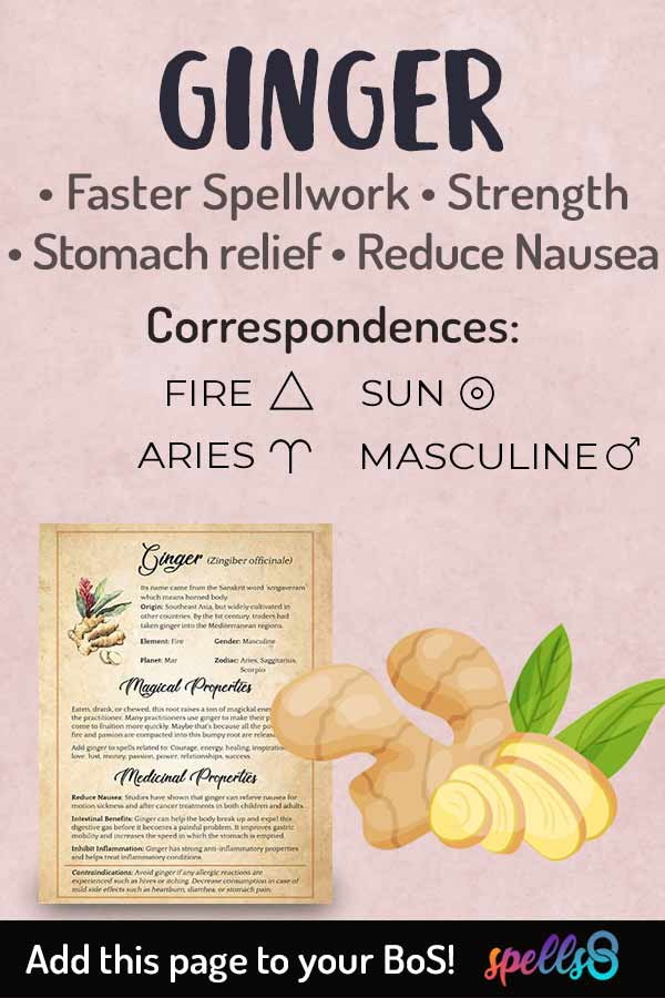 Correspondences and Spiritual Use of Ginger