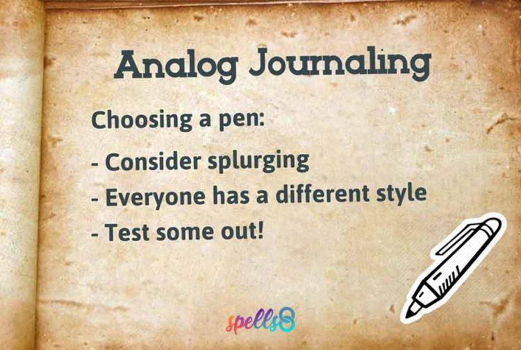 Analog Journaling Digital