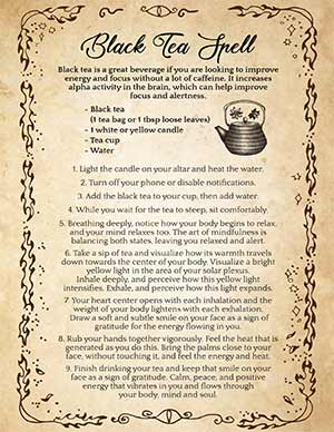 Black Tea Meditation Spell