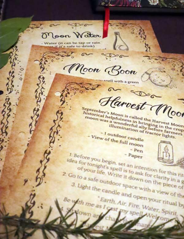 Lunar Witch Grimoire Pages PDF