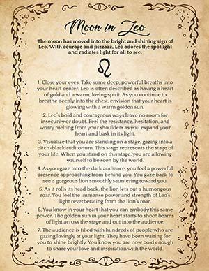 Leo Moon magic spells