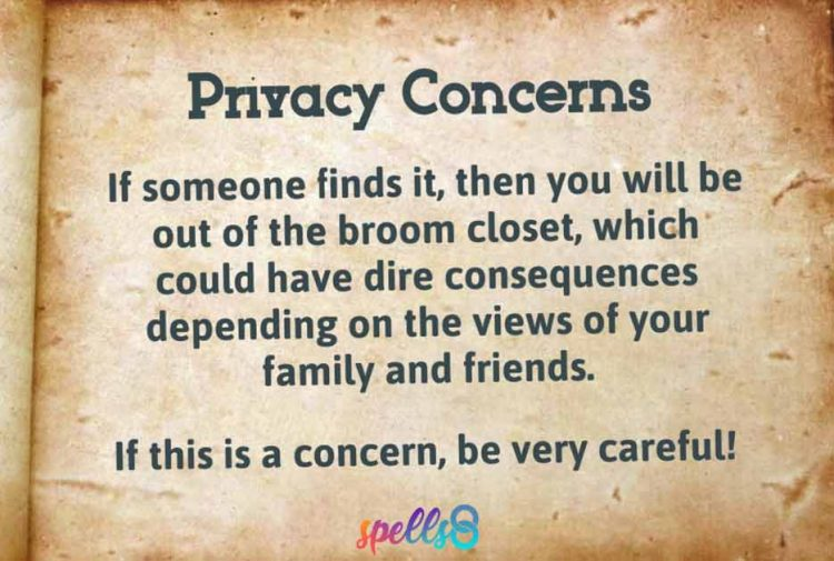 Privacy Wicca Book of Mirrors