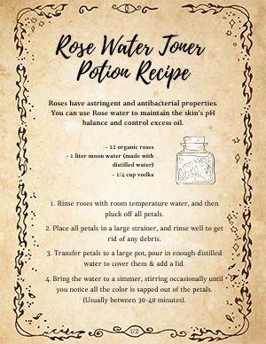 Rose Water Potion Toner