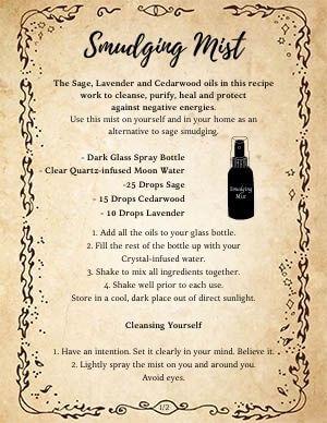Smokeless Smudge Mist Recipe