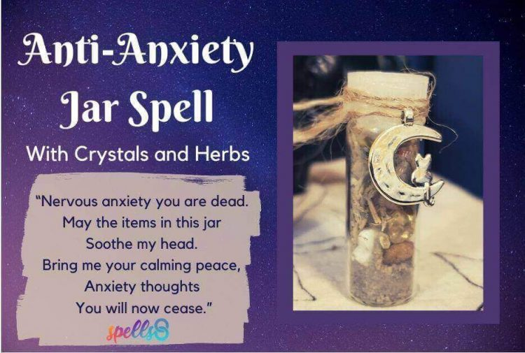 Anti Anxiety Jar Witches Spell
