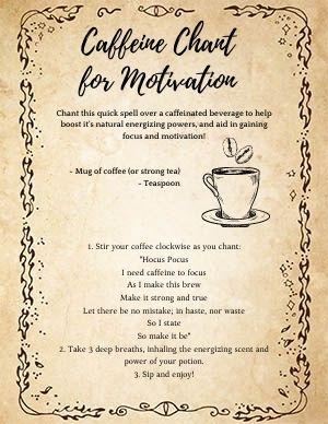 Coffee Chant Spell