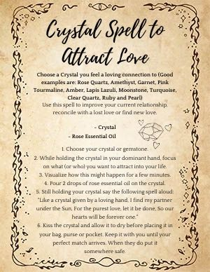 Crystal Spell to Attract Love
