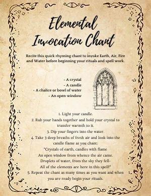 Elemental Chant Prayer Invocation