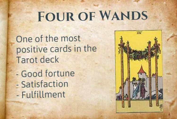 Tarot Four of Wands Meaning