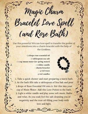 Magic Charm Bracelet Love Spell