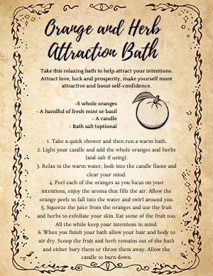 Oragen Attraction Bath Magick
