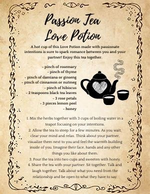 Passion Tea Love Potion Spell