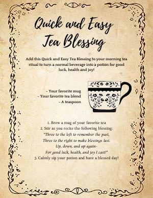 Easy Tea Blessing Ritual