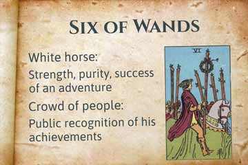 Six of Wands Upright and Reversed Tarot