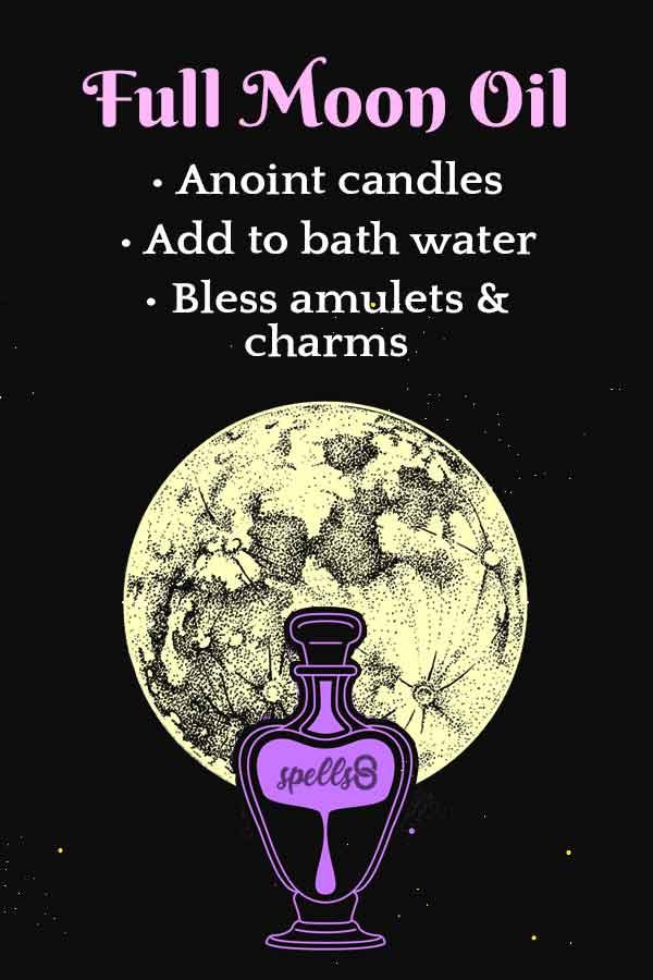 Wicca Full Moon Oil Recipe