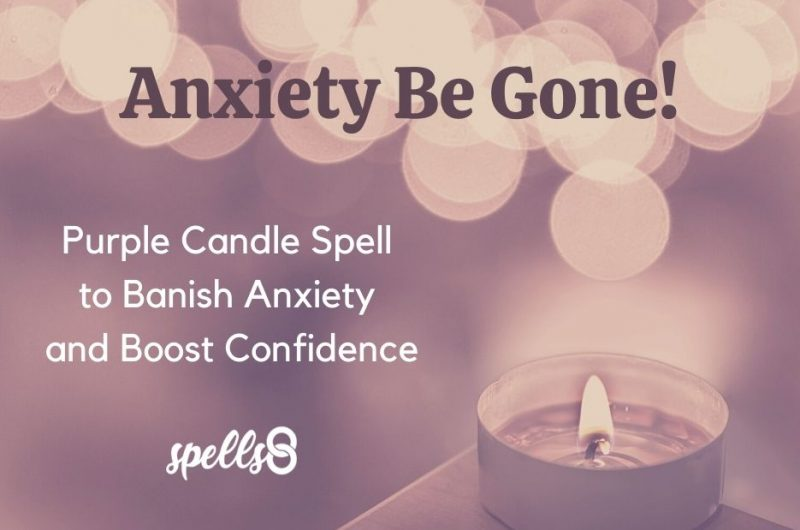 Anxiety Be Gone: Purple Candle Spell