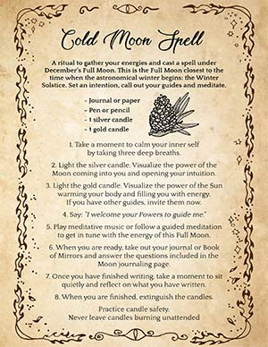 Cold Moon Magic Spell Witches