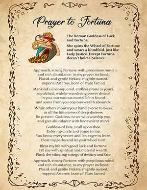 Prayer to Goddess Fortuna for Good Luck