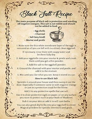 Black Salt with Eggshells Recipe