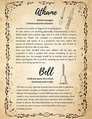 How to Use the Athame Wicca Book of Shadows