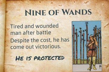 Nine of Wands Interpretation