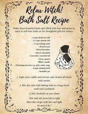Relax Witch Bath Salt Wicca