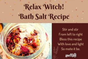 Relax Witch Bath Salt Recipe