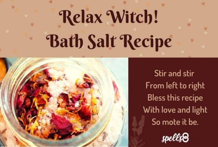 Relax Witch Bath Salt Recipe