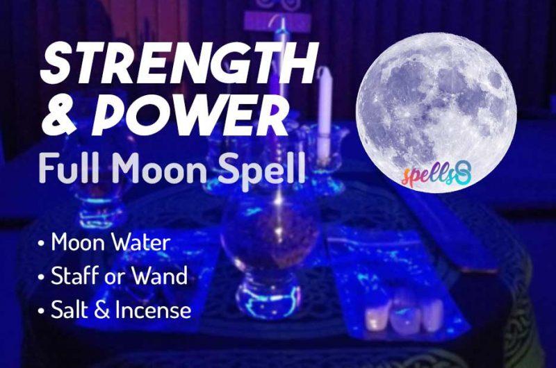 Full Moon Spell for Motivation, Energy & Strength
