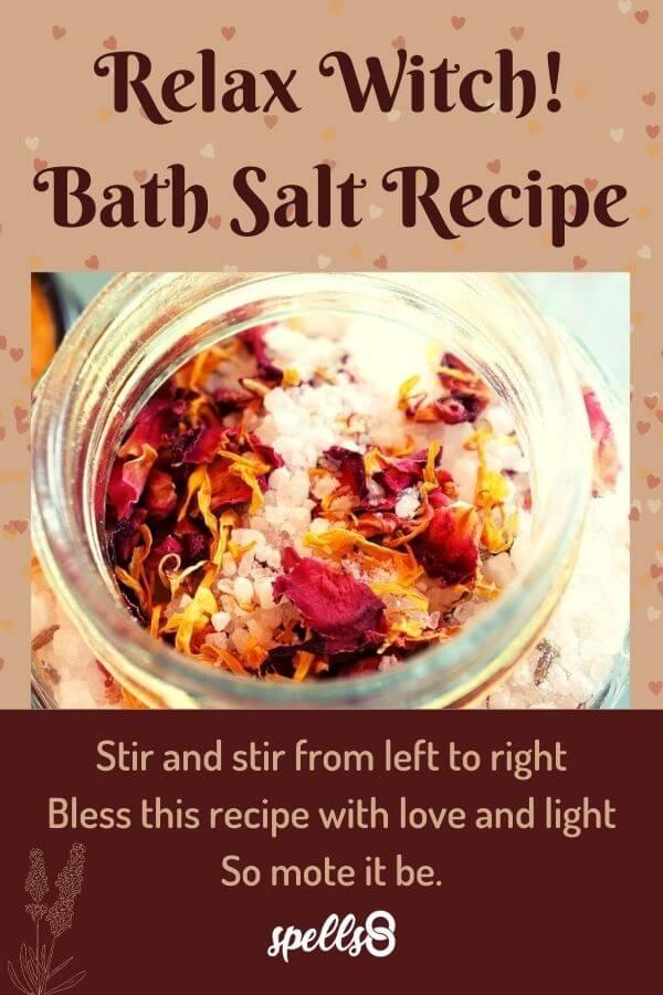 Wiccan Bath Salt Recipe