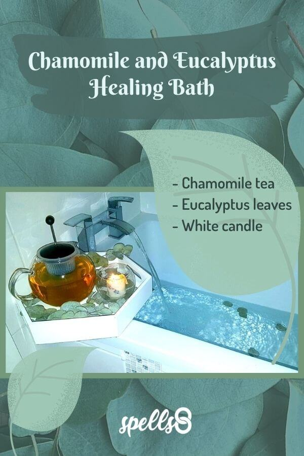 Chamomile and Eucalyptus Healing Bath