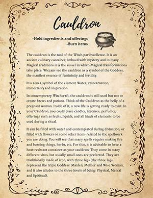 Wicca Cauldron Spells