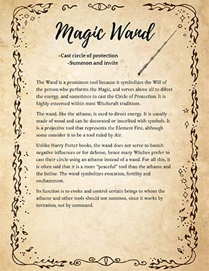 Wand Meaning Wicca Witchcraft
