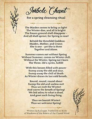 Wicca Cleansing Chant