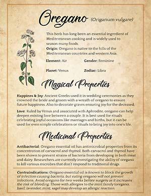 Witchy uses of Oregano