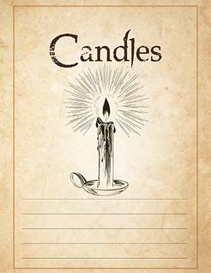 Candle Magic Section Book of Shadows