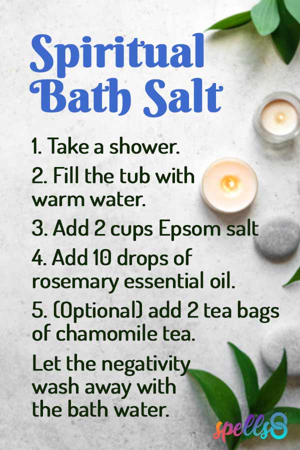 Cleansing Bath to Remove a Curse