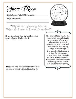 Snow Moon Manifestation Journal