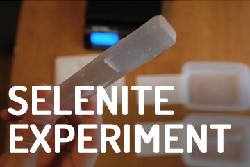 Selenite Dissolves in Water? Experiment