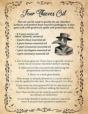 Four Thieves Oil Recipe