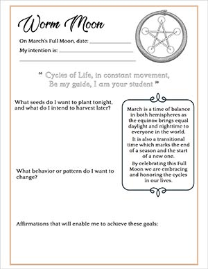 Full Worm Moon Spell and Journaling
